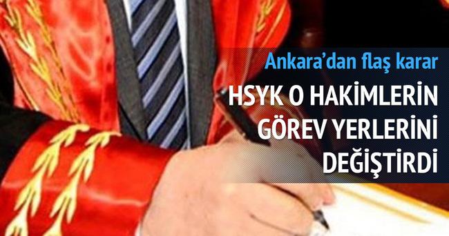 HSYK o hakimlerin görev yerini değiştirdi