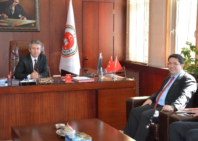 Başkan Yazgı'dan, Yeni Atanan Cumhuriyet Başsavcısı Akın'a Ziyaret