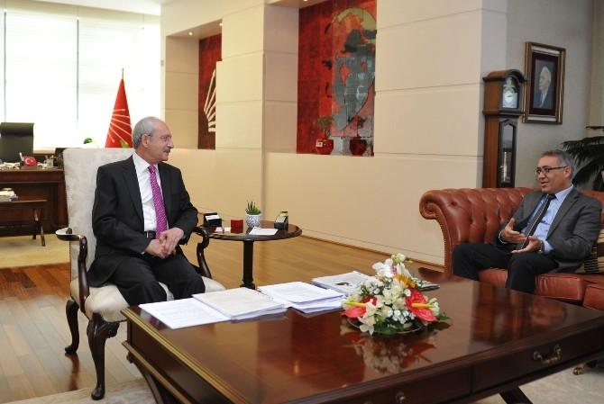Alevi Kültür Dernekleri Başkanı Demir, Kılıçdaroğlu'nu Ziyaret Etti