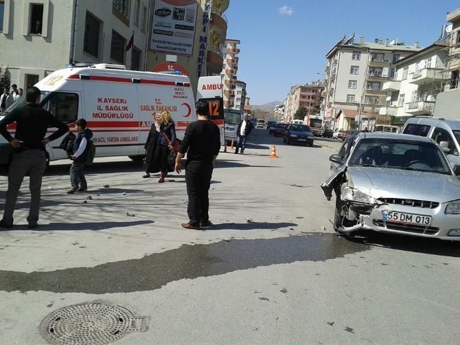 Develi'de Trafik Kazası: 1 Yaralı