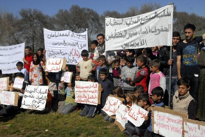 Ezidilerden IŞİD Protestosu