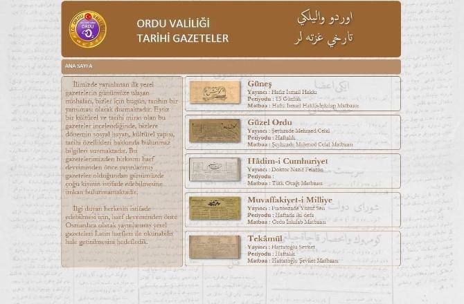 Ordu'da Osmanlıca Gazeteler Gün Yüzüne Çıktı