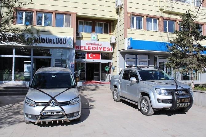 Sungurlu Belediyesi'nden Tüm Araçlara Kurdele