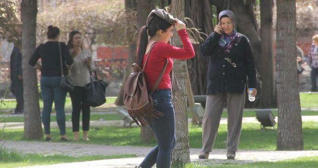 Adana'da termometreler 38 dereceyi gösterdi