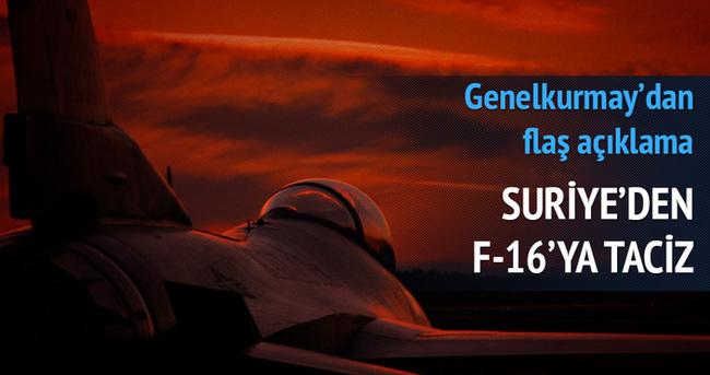 Suriye'den F- 16'ya radar tacizi