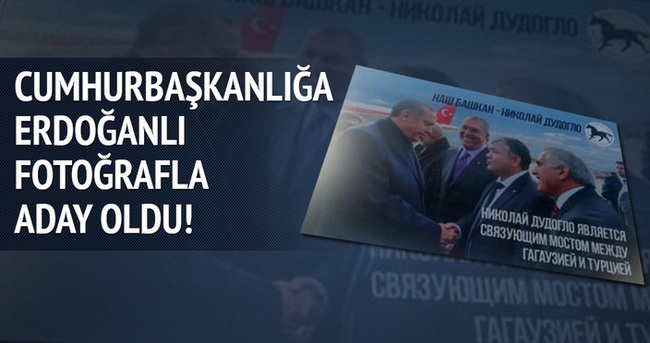 Cumhurbaşkanlığı'na Erdoğanlı fotoğraflarla aday oldu