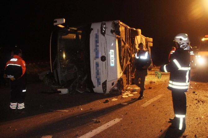 Otobüs Kazasında Yaralıların Tedavisine Devam Ediliyor