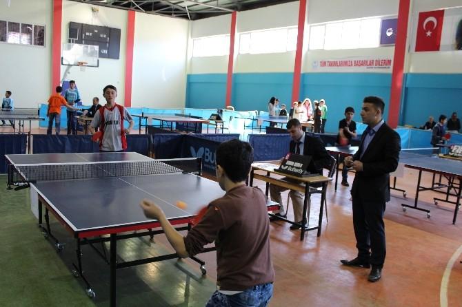 Sason'da Okul Turnuvaları Masa Tenisi İle Start Aldı