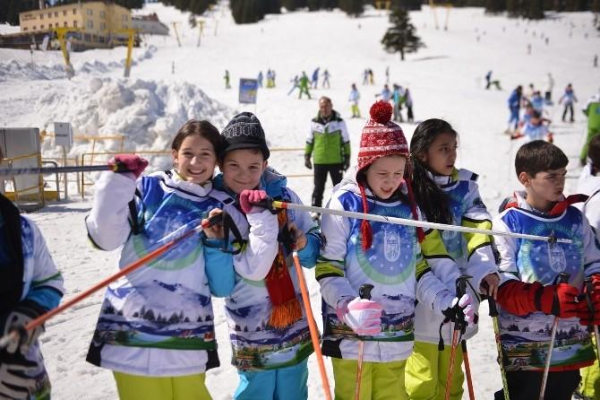 Büyükşehir'le Kayak Öğreniyorlar