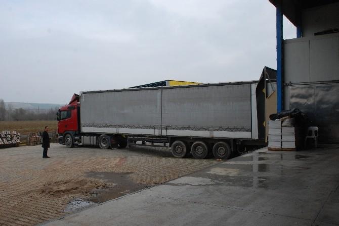 Suriyeli Sığınmacılara Bayramiç'ten 40 Ton Elma Yardımı