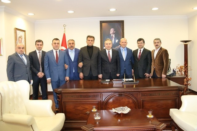 Başkanlardan Vali Ali Fidan'a Hayırlı Olsun Ziyareti
