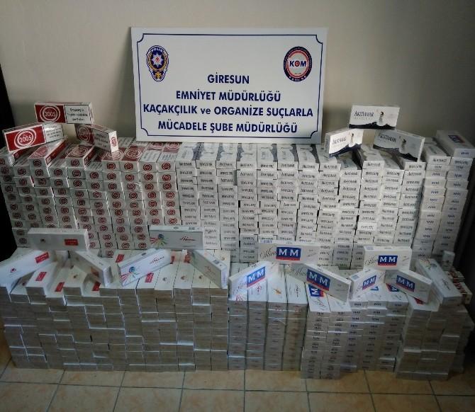 Giresun'da 8 Bin 702 Paket Kaçak Sigara Ele Geçirdi