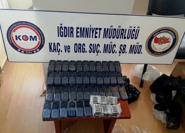 Iğdır'da Gümrük Kaçağı 61 Cep Telefonu Ele Geçirildi