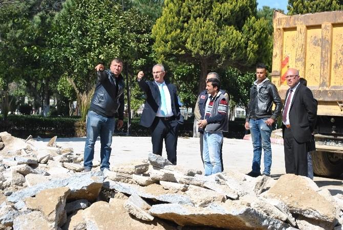 İncirliova Kültür Park'ta Çalışmalar Devam Ediyor