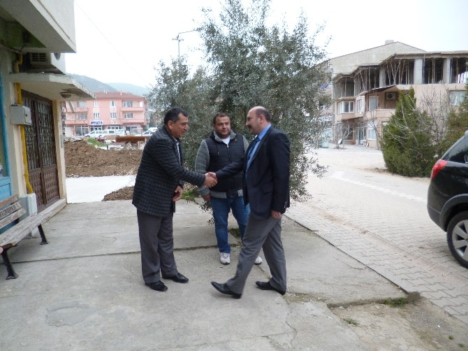 Kaymakam Çakıcı'dan Ziraat Odası Başkanı Ünver'e Hayırlı Olsun Ziyareti