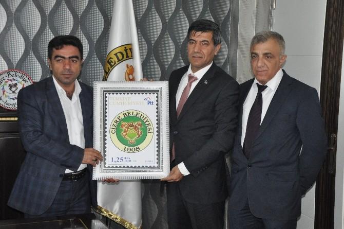 Şırnak PTT Başmüdürlüğü, Cizre Belediyesi'ne Kurumsal Pul Bastırdı