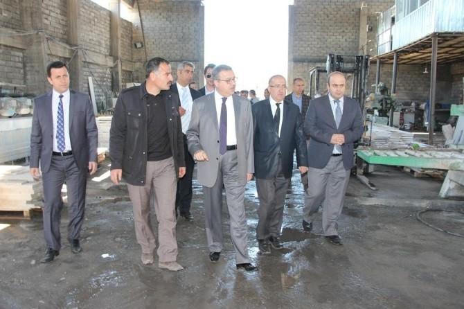 Vali Su, Organize Sanayi Bögesi'nde İncelemelerde Bulundu