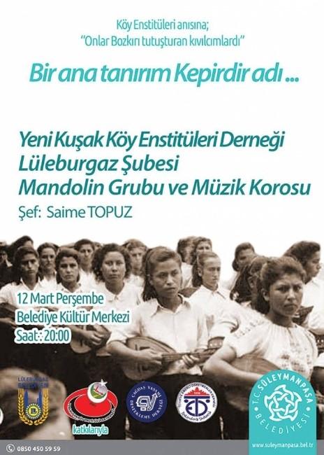 Köy Enstitüleri Süleymanpaşa'da Hayat Bulacak