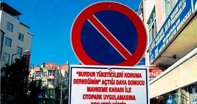 Sokak otoparkına Danıştay engeli