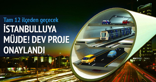 3 katlı metro ve boğaz geçişi projesi onaylandı