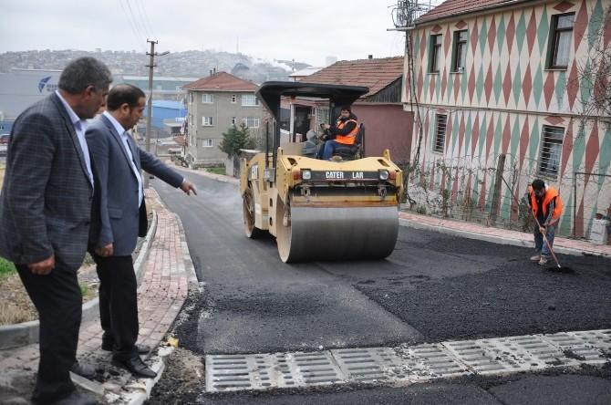 Başkan Toltar, Asfalt Çalışmalarını Denetledi