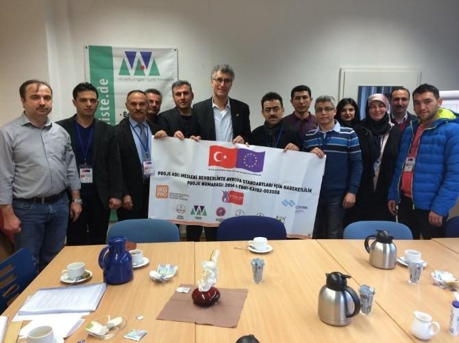 Erasmus+ Ka1 Mesleki Eğitim Projesi Toplantısı Almanya'da Yapıldı