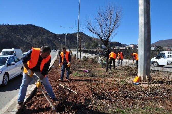 Tunceli'de Park Ve Refüjlerde Temizlik Çalışması