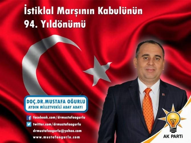 Mustafa Oğurlu, İstiklal Marşı'nın Kabulünü Kutladı