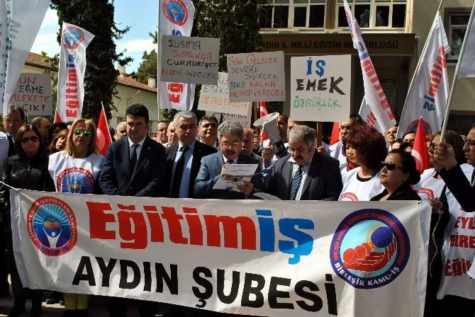 Aydın'da Eğitimcilerden 'Haksız Görevlendirme' Eylemi