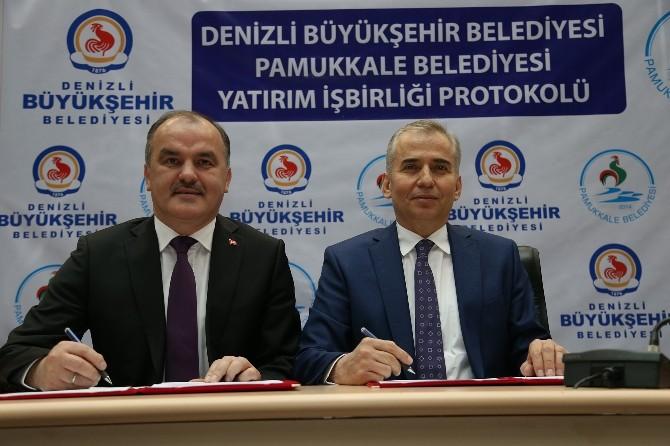Büyükşehir Ve Pamukkale Belediyesi Arasında Yatırım İşbirliği Protokolü
