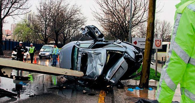 Başkentte trafik kazasında 1 kişi öldü