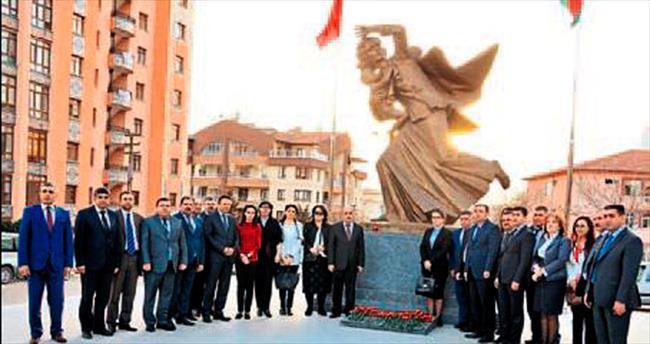 Azeri başkanlar Keçiören'in en gözde mekânlarını gezdi