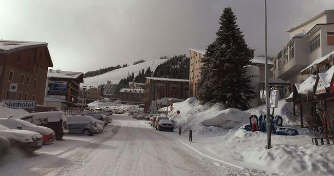 Uludağ'a Mart karı yağdı