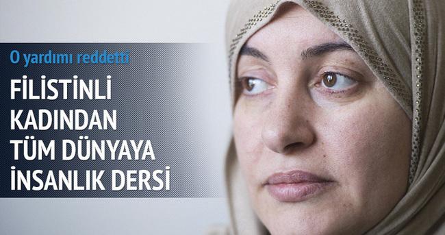 Filistinli kadından insanlık dersi!