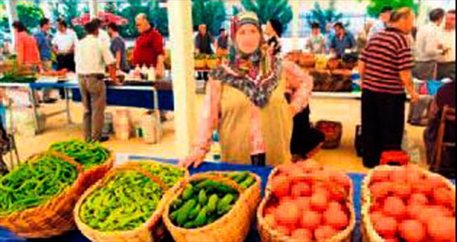Metro duraklarına köylü pazarı