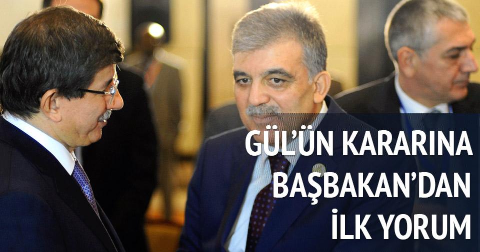 Abdullah Gül'ün kararına ilk yorum