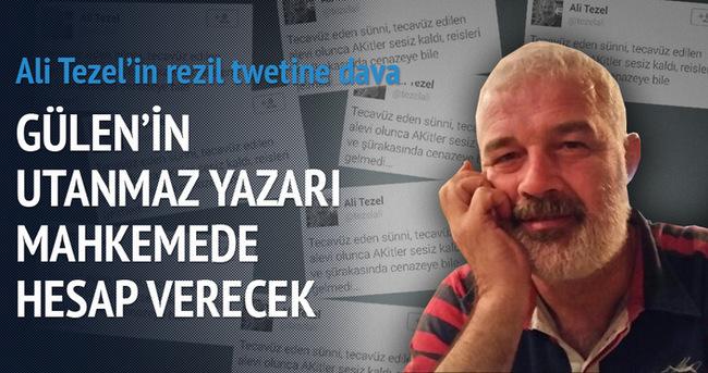 Gülen'in utanmaz yazarı mahkemede hesap verecek