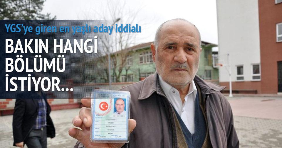 70 yaşında YGS'ye girdi