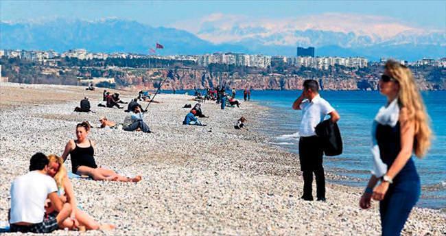Antalya güneşi gördü