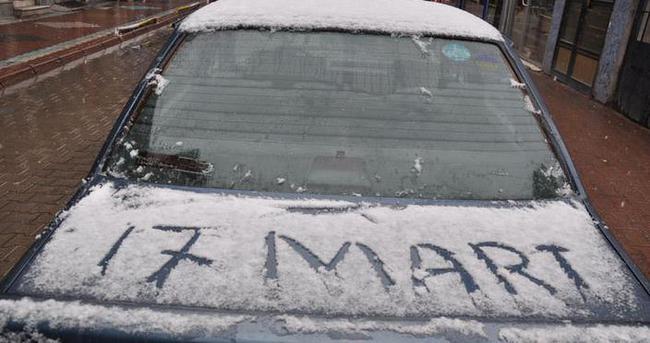 Nevşehir'de Mart ayında kar sürprizi