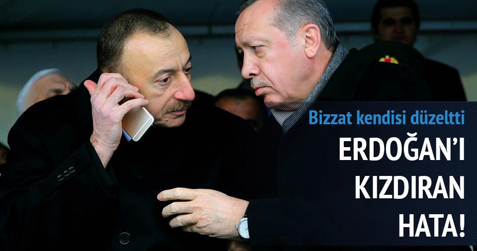 Cumhurbaşkanı Erdoğan'ı kızdıran hata