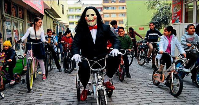Çine'de bisikletin filmi çekildi