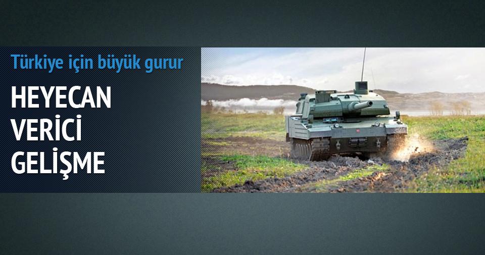 Milli tankın motoru da yerli olacak