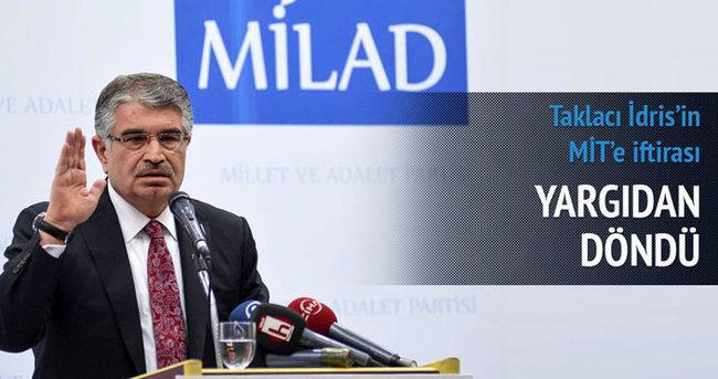 İdris Naim Şahin'in iddiasına takipsizlik kararı verildi