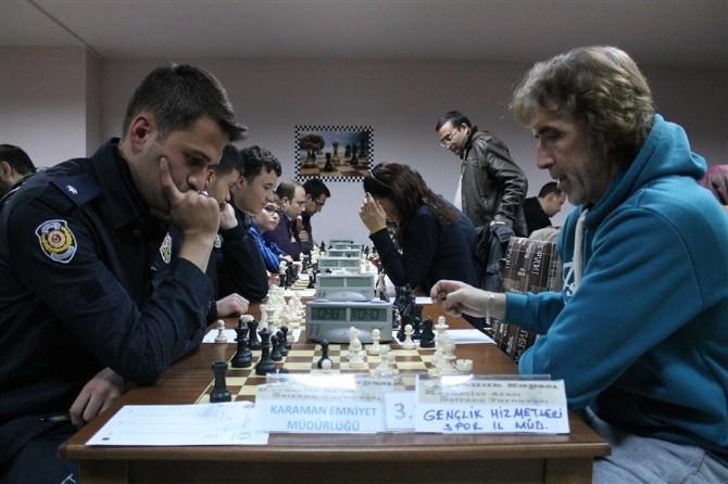 Karaman'da Kurumlararası Satranç Turnuvası