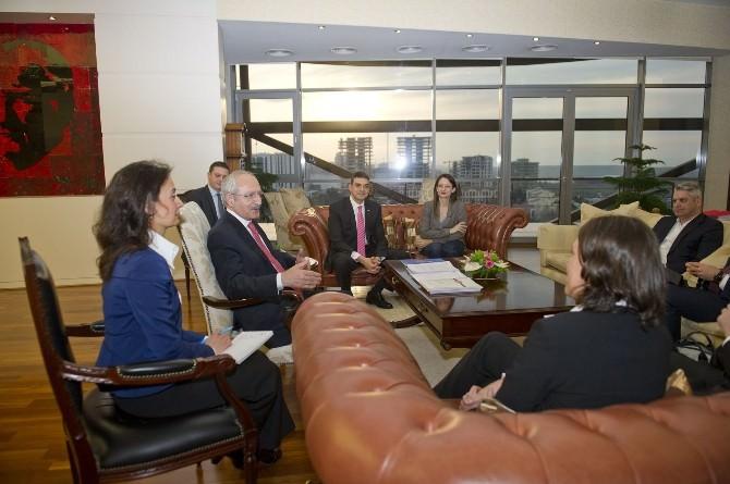 AB Raportörü Piri'den Kılıçdaroğlu'na Ziyaret