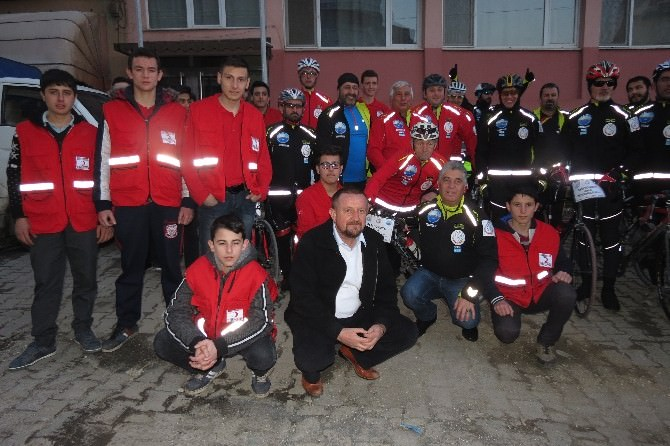 Çanakkale'ye Giden Bisikletçiler Malkara'da Turladı