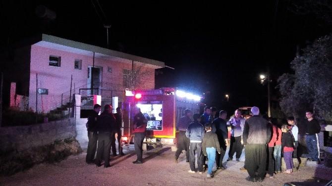 Yangında Ev Sahibi Kadın Son Anda Kurtarıldı