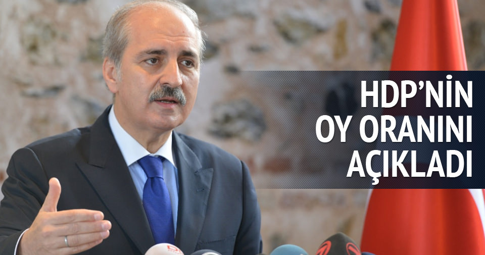 KURTULMUŞ, HDP'NİN OY ORANINI AÇIKLADI