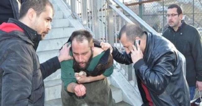 Sarıklı gence IŞİD'ci dayağı